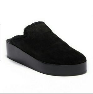 Rag & Bone Elisa Genuine Shearling Lined Clog Mule